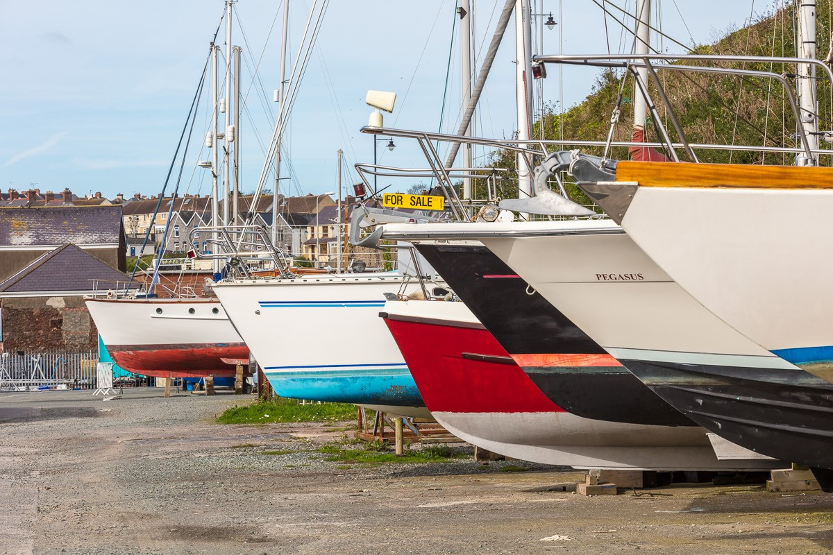 Boatyard at Milford Marina