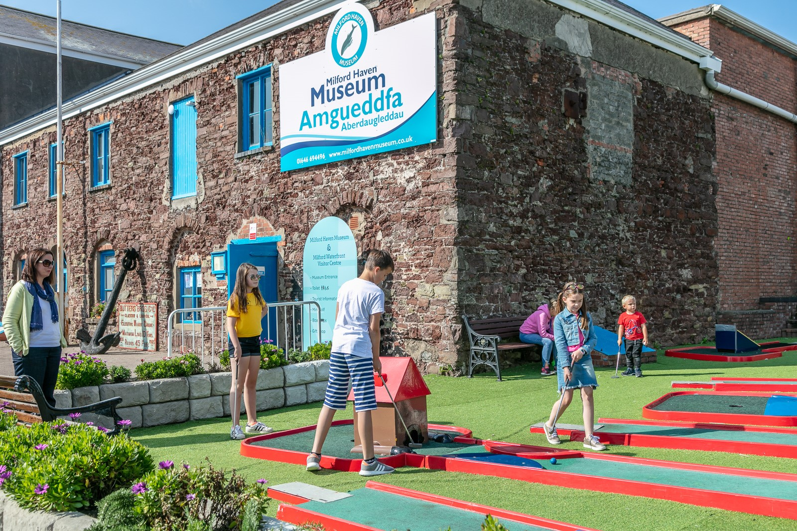 Milford Haven Museum & the Mini Golf Course provide sunny and wet weather fun