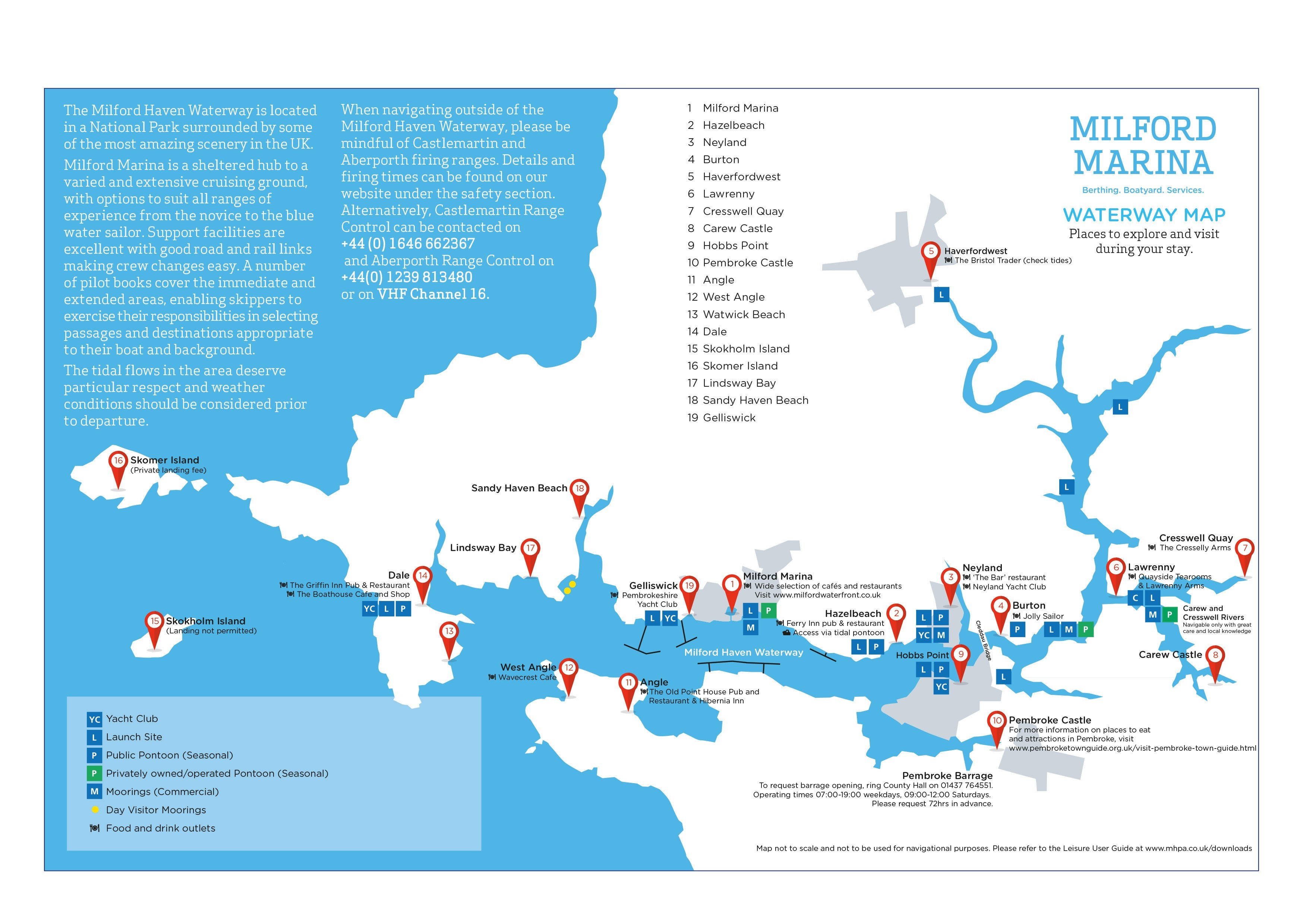 Milford Haven Waterway map
