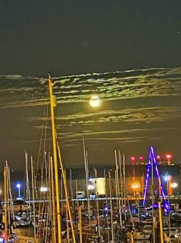 May's winner of the Milford Marina Photo of the Month competition 'VE Day Moon'